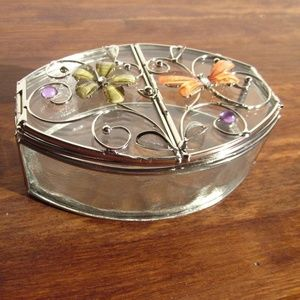 Other - *NWOT* Glass Jewelry Box